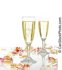 ünneplés, noha, pezsgő