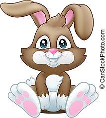 üregi nyúl, nyuszi, húsvét, karikatúra
