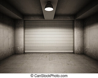 üres, garázs