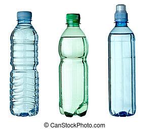 üres, használt, szemét, palack, ökológia, környezet