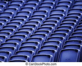 üres, stadion leültet