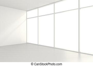 üres, white hely, belső, hivatal., 3, vakolás