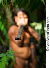 ütés, amazoniai, pisztoly