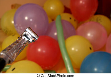 ütés, horpadás, fújás, évforduló, kürtös, születésnap, ...