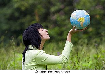 ütés, nő, globális