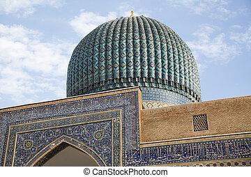 üzbegisztán, mecset, kupola