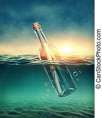 üzenet, palack