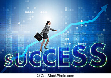 üzletasszony, alatt, siker, ügy fogalom
