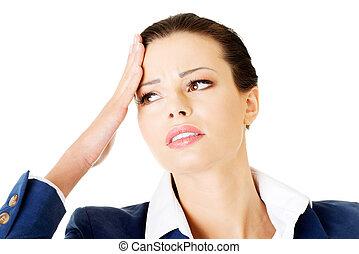 üzletasszony, headache., bájos