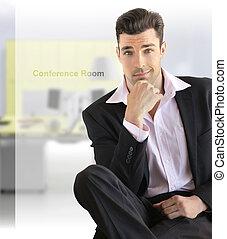 üzletember, ülés