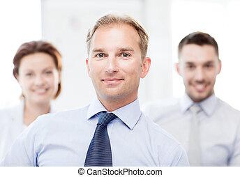 üzletember, alatt, hivatal