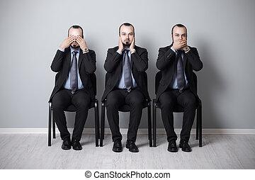 üzletember, bölcs, három