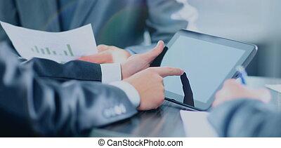 üzletember, birtok, digital tabletta