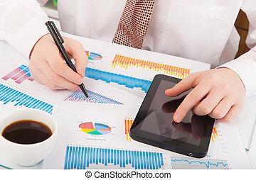 üzletember, elemzés, táblázatok, ábra