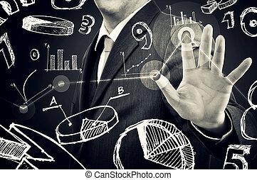 üzletember, infographics