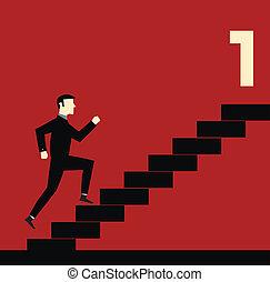 üzletember, lépcsőfok