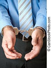 üzletember, letartóztatás alatt
