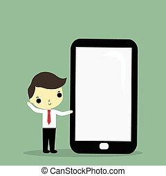 üzletember, mobilephone