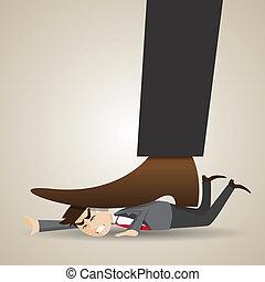 üzletember, stomped, karikatúra, főnök