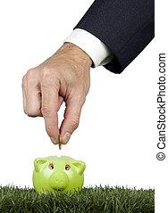 üzletember, takarékbetét pénz
