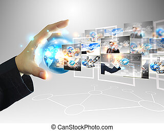 üzletember, .technology, fogalom, birtok, világ