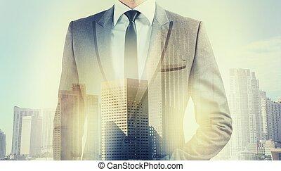 üzletember, tető