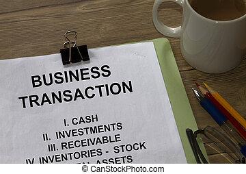 üzleti transzakció