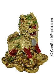 číňané drak, pryskyřice, obsazení, -, znak, jako, rok k drak