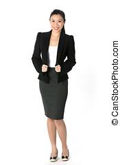 číňan, asijský eny, do, jeden, povolání, suit.