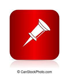 čípek, červené šaty čtverhran, moderní, design, ikona