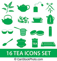 čaj, ikona, dát, eps10