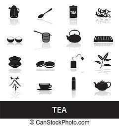 čaj, ikona, eps10