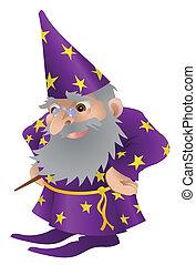 čaroděj, ilustrace