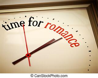 čas, jako, romance