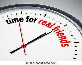 čas, jako, skutečný, průvodce