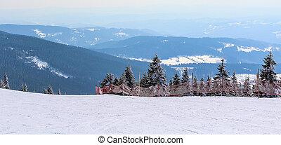 čech, hora peak, sněžný