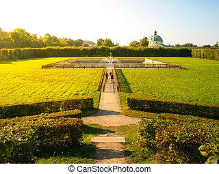 čech, květ, republika, zahrada, kromeriz