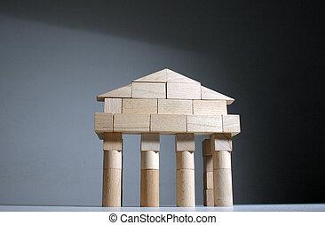čelo, starobylý, chrám
