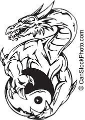 čepobití, yin- yang, drak, firma