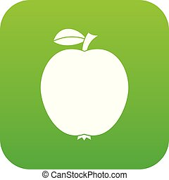 čerň, jablko, ikona, digitální, nezkušený