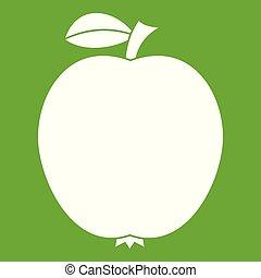 čerň, jablko, ikona, nezkušený