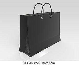 čerň, nákupní taška