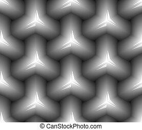 čerň, neposkvrněný, pattern., seamless