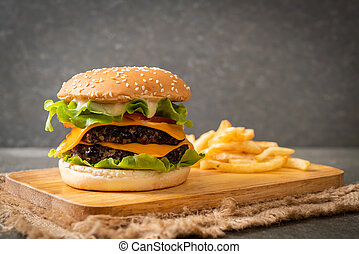 čerstvý, chutný, hamburger
