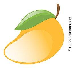 čerstvý, mango, oproti neposkvrněný, grafické pozadí