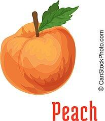 čerstvý, ovoce, šťavnatý, donášet, ikona