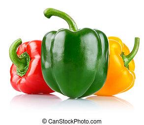čerstvý, pepř, zelenina