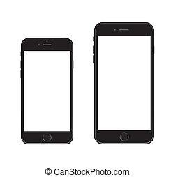 čerstvý, smartphone, iphone, 6