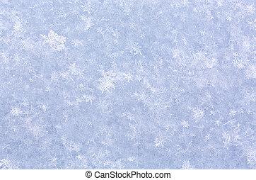 čerstvý sníh, tkanivo, makro