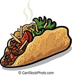 čerstvý, tacos